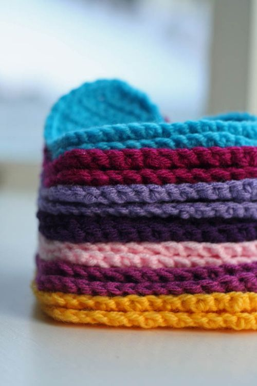 Crochet heart stack
