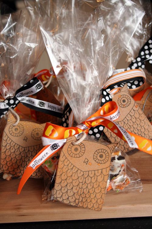 Candy bark halloween bags